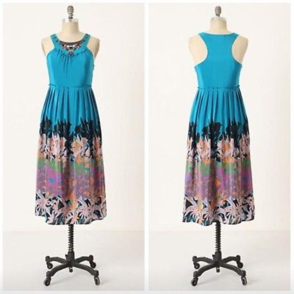 Anthropologie Dresses & Skirts - Anthropologie S 4 Island Nightfall Silk Maxi Dress